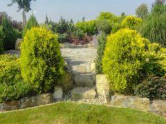 Schody w ogrodzie Orzesz