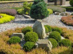 Kamień ogrodowy w Orzeszu