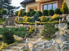 Schody z kamienia w ogrodzie